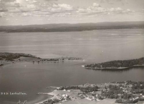 Larkollsundet med øyene Eldøya og Kollen